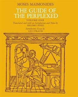 Book The Guide Of The Perplexed, Volume 1 by Moses Maimonides