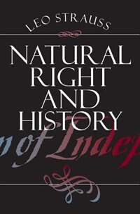 Book Natural Right and History by Leo Strauss