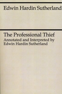 Book The Professional Thief by Edwin Hardin Sutherland