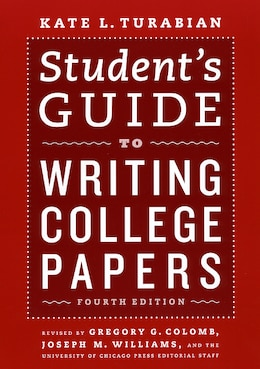 Book Student's Guide To Writing College Papers: Fourth Edition by Kate L. Turabian