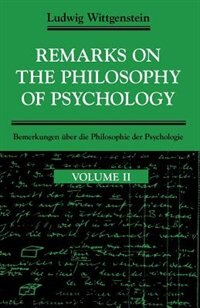 Book Remarks on the Philosophy of Psychology, Volume 2 by Ludwig Wittgenstein