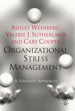 Book Organizational Stress Management: A Strategic Approach by Cary Cooper
