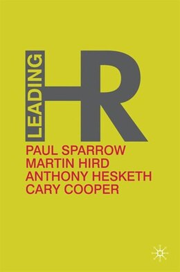 Book Leading Hr by Paul Sparrow