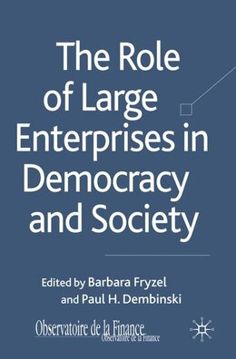 Book The Role of Large Enterprises in Democracy and Society by Barbara Fryzel