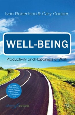 Book Well-being: Productivity and Happiness at Work by Cary Cooper