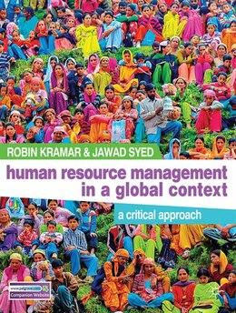 Book Human Resource Management in a Global Context: A Critical Approach by Robin Kramar