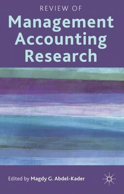 Book Review of Management Accounting Research by Magdy G. Abdel-Kader
