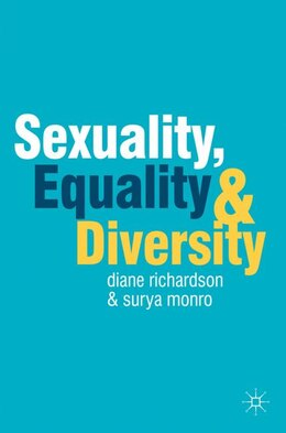 Book Sexuality, Equality and Diversity by Diane Richardson