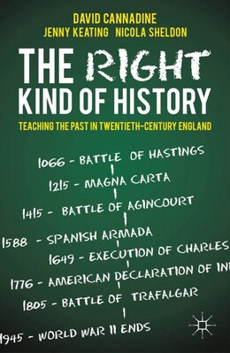 Book The Right Kind Of History: Teaching The Past In Twentieth-century England by David Cannadine