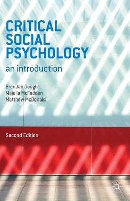 Book Critical Social Psychology: An Introduction by Brendan Gough