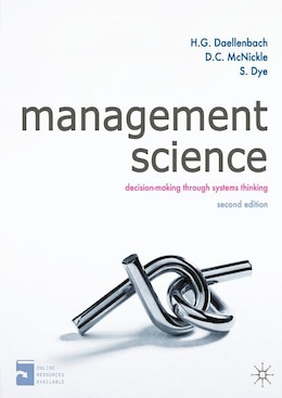 Book Management Science: Decision-making through systems thinking by Hans Daellenbach