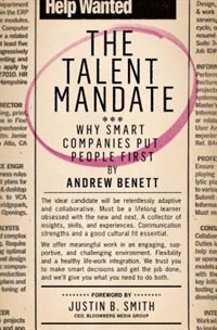 Book The Talent Mandate: Why Smart Companies Put People First by Andrew Benett