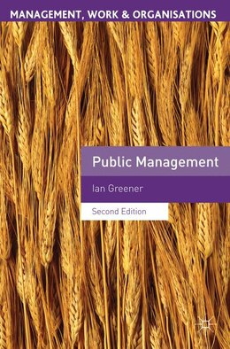 Book Public Management by Ian Greener