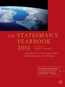 Book The Statesman's Yearbook 2013: The Politics, Cultures and Economies of the World by Barry Turner