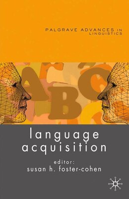 Book Language Acquisition by Susan Foster-Cohen