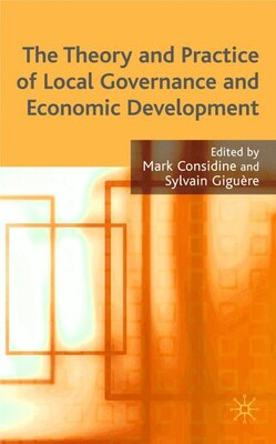Book Theory And Practice Of Local Governance And Economic Development by Mark Considine
