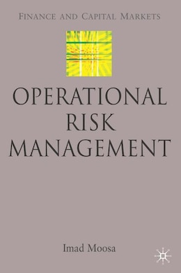 Book Operational Risk Management by I. Moosa