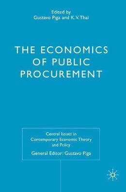 Book Economics Of Public Procurement by K.V. Thai