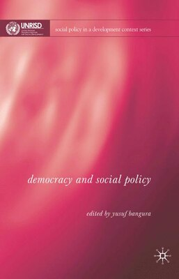 Book Democracy And Social Policy by Y. Bangura