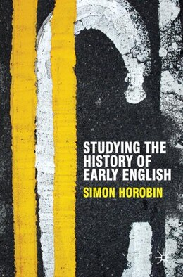 Book Studying the History of Early English by Simon Horobin
