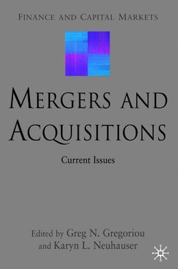 Book Mergers And Acquisitions: Current Issues by Greg N. Gregoriou