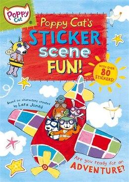 Book Poppy Cat's Sticker Scene Fun by Lara Jones