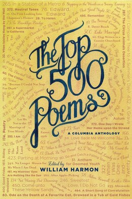 Book The Top 500 Poems by William Harmon