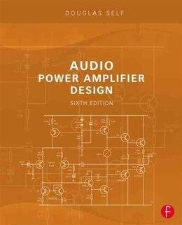 Book Audio Power Amplifier Design by Douglas Self