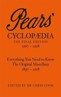 Book Pears' Cyclopaedia 2016-2017 by Chris Cook