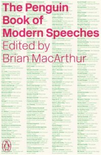 Book The Penguin Book Of Modern Speeches by Brian Macarthur