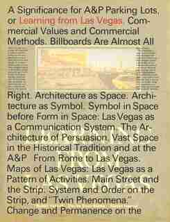 Learning From Las Vegas, Facsimile Edition by Robert Venturi
