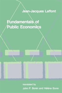 Book Fundamentals of Public Economics by Jean-jacques Laffont