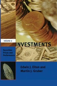 Book Investments - Vol. II: Securities Prices and Performance by Edwin J. Elton