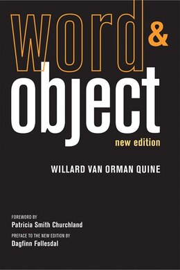 Book Word And Object by Willard van Orman Quine