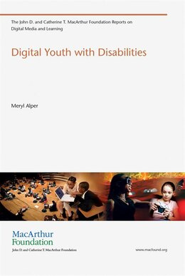 Book Digital Youth With Disabilities by Meryl Alper