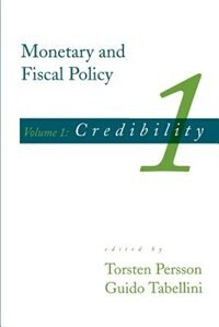 Book Monetary And Fiscal Policy: Credibility by Torsten Persson