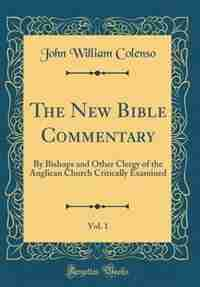 The New Bible Commentary, Vol. 1: By Bishops and Other Clergy of the Anglican Church Critically Examined (Classic Reprint) by John William Colenso
