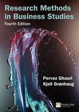 Book Research Methods in Business Studies: A Practical Guide by Pervez Ghauri