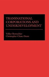Book Transnational Corporations And Underdevelopment by Volker Bornschier