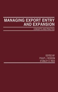 Book Managing Export Entry And Expansion: Concepts And Practice by Philip J. Rosson