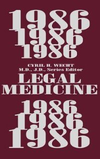 Book Legal Medicine 1986 by Cyril H. Wecht