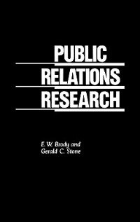 Book Public Relations Research by E. W. Brody