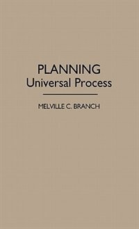Book Planning: Universal Process by Melville Campbell Branch