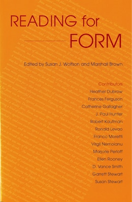 Book Reading for Form by Susan J. Wolfson