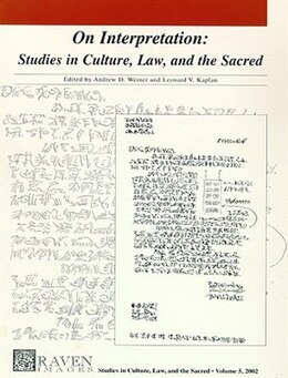 Book Graven Images - On Interpretation: Studies In Culture, Law, And The Sacred by Andrew D. Weiner