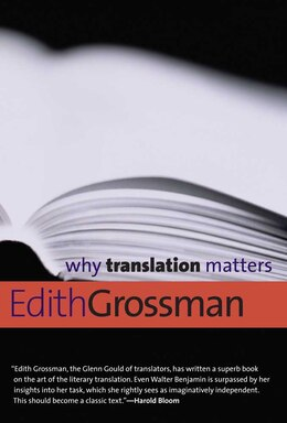 Book Why Translation Matters by Edith Grossman
