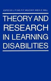 Book Theory and Research in Learning Disabilities by J.P. Das
