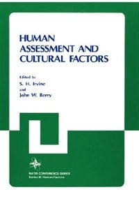 Book Human Assessment and Cultural Factors by John W. Berry