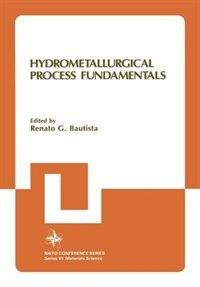 Book Hydrometallurgical Process Fundamentals by Renato G. Bautista