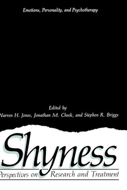 Book Shyness: Perspectives on Research and Treatment by Warren H. Jones